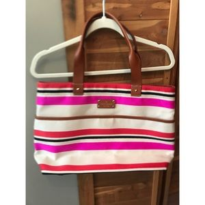 Kate Spade Canvas Tote with Leather Handles